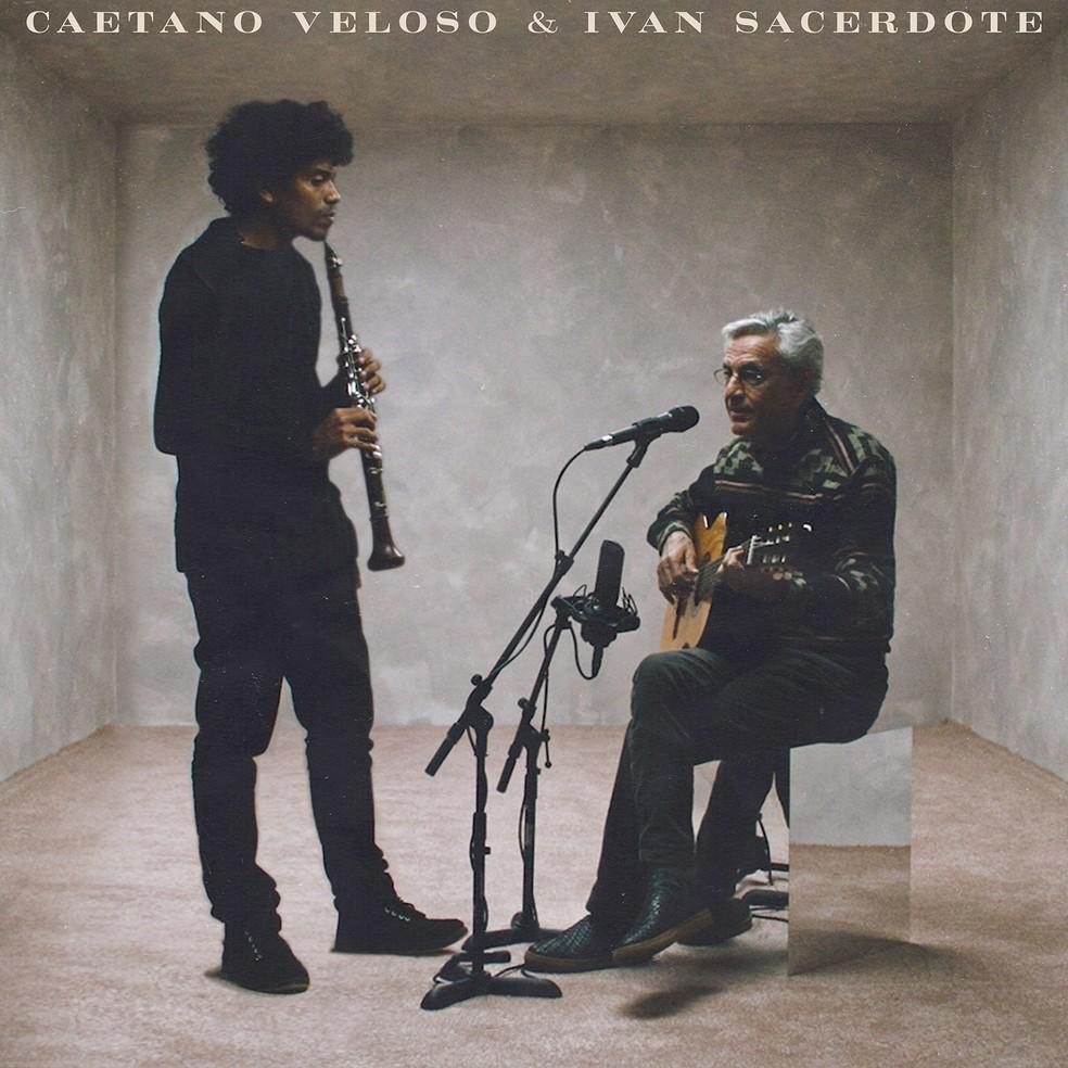 Capa do álbum 'Caetano Veloso & Ivan Sacerdote' — Foto: Divulgação