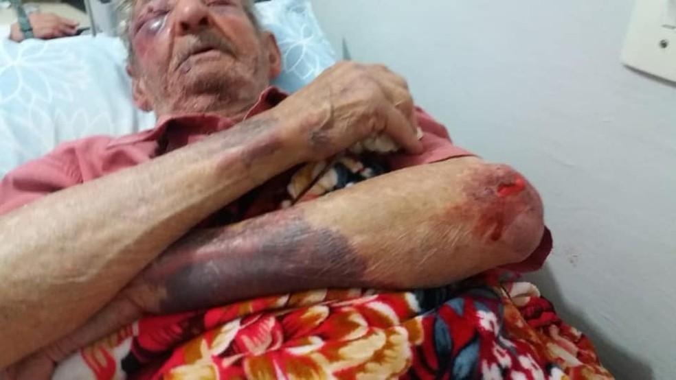 Osório teve alta médica e, agora, está sob os cuidados da família (Foto: Regiane Nizer Dos Santos/Arquivo pessoal)