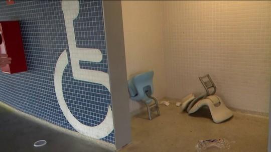 Imagens do dia seguinte à final mostram destruição dentro do estádio do Maracanã