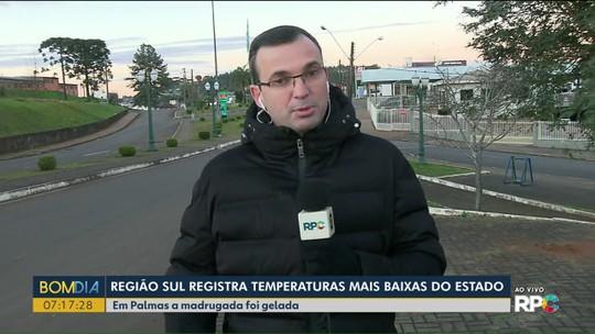 Cidades do Paraná tiveram sensação térmica negativa, aponta Inmet