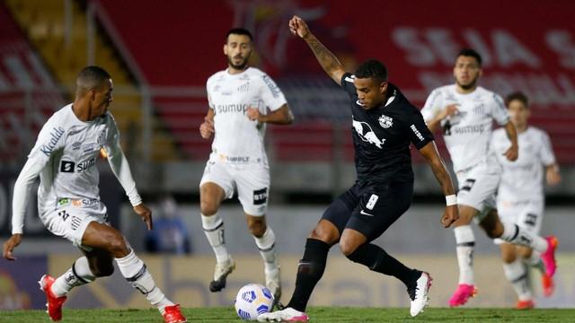 Bragantino e Santos ficaram no empate por 2 a 2