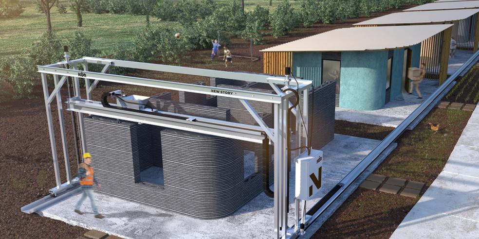 Impressora 3D Vulcan constrói casa em menos de 24 horas por R$ 13 mil (Foto: Divulgação/ICON)