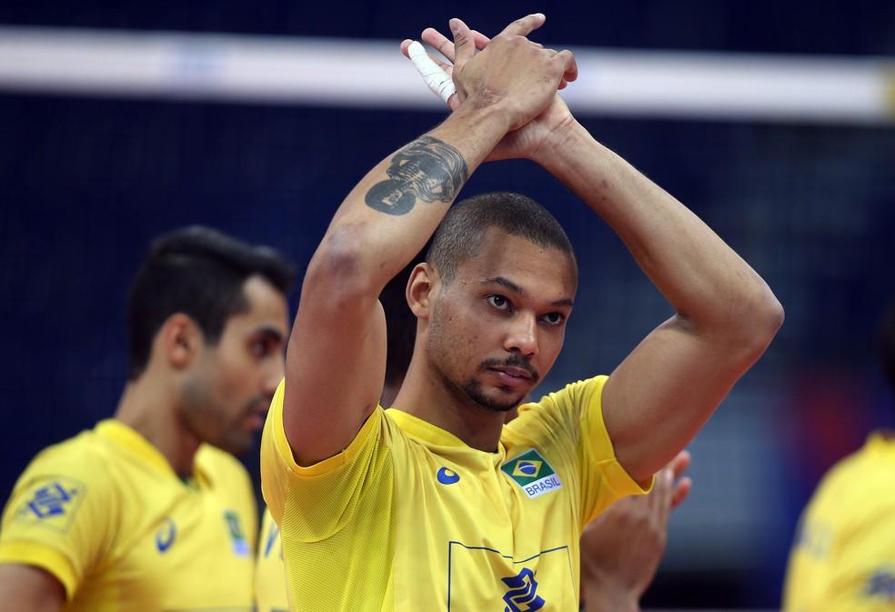 Com vitória sobre a China, Alan fez uma boa estreia pela seleção brasileira de vôlei (Foto: Divulgação/FIVB)