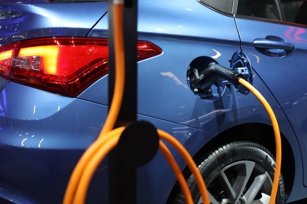 Elétricos no Salão do Automóvel de SP 2018 — Foto: Fabio Tito/G1