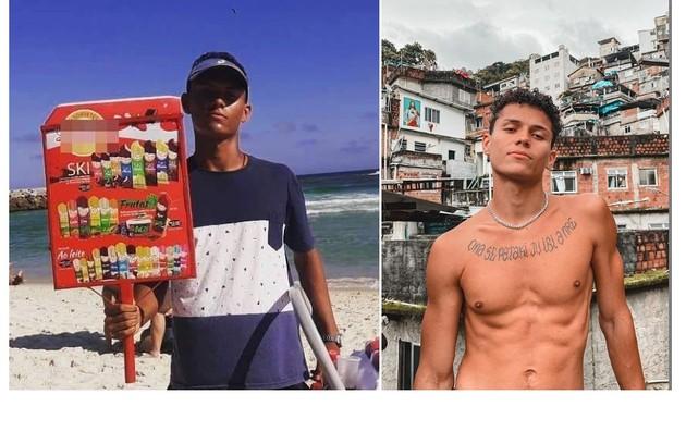 Danrley Ferreira, da edição de 2019, era vendedor de picolé em praias do Rio. Hoje, é influenciador digital e representa a Rocinha no Instagram (Foto: Reprodução/Instagram)