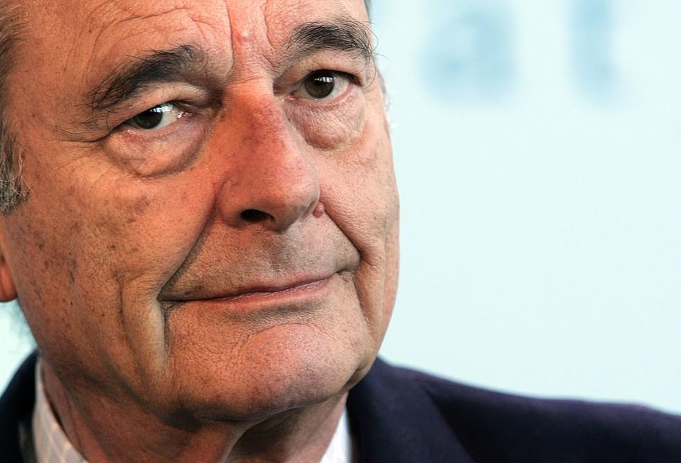 Ex-presidente francês Jacques Chirac, em imagem de arquivo — Foto: Patrick Kovarik / AFP