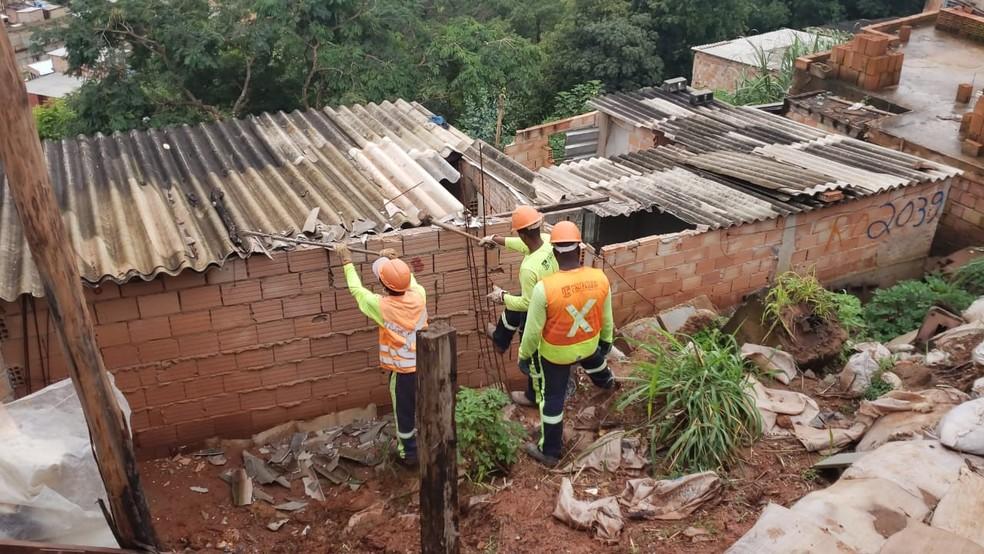 Contagem sofre com as chuvas fortes desde o início de 2020. — Foto: Carlos Eduardo Alvim/TV Globo