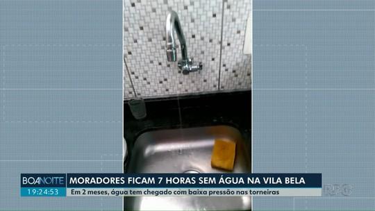 Moradores reclamam de falta de água na Vila Bela, em Guarapuava