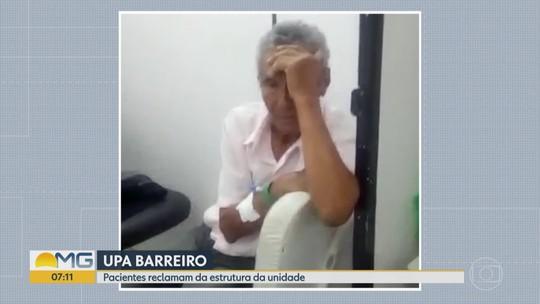 Falta de maca em UPA de BH faz pacientes aguardarem em cadeiras de ferro