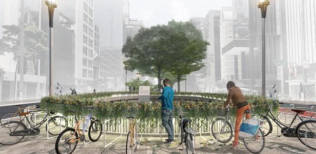 Praça na Avenida Paulista terá homenagem a ciclistas vítimas de acidente (Foto: Divulgação )
