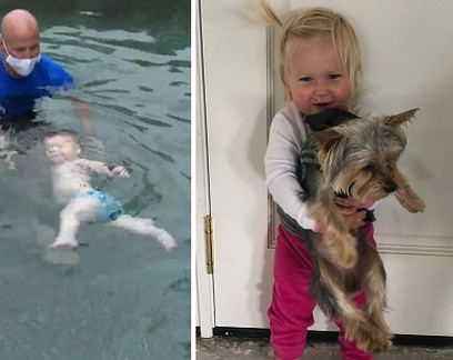 Dois anos depois de perder filha em piscina, Bode Miller ensina auto-resgate a gêmeos de 7 meses