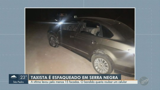 Taxista é ferido com golpes de faca durante assalto em estrada de Serra Negra