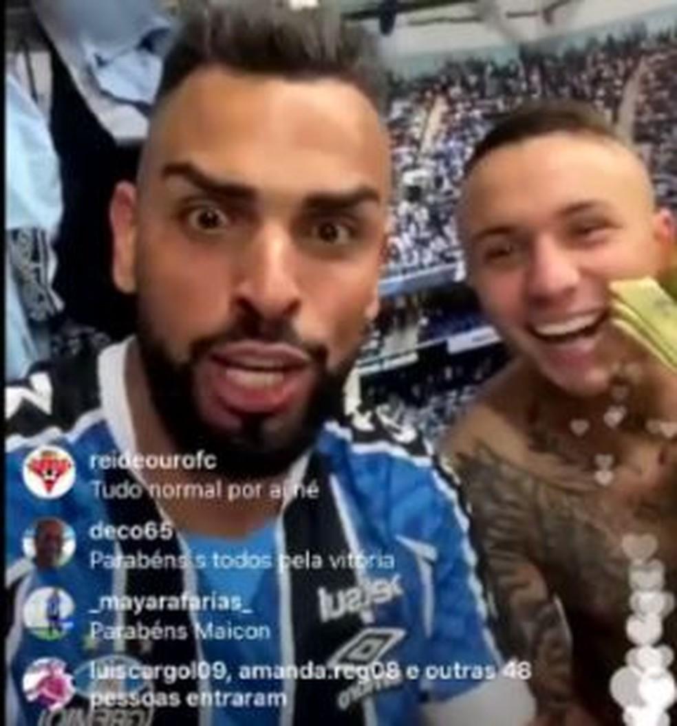 Maicon provoca o Inter pelas redes sociais  — Foto: Reprodução