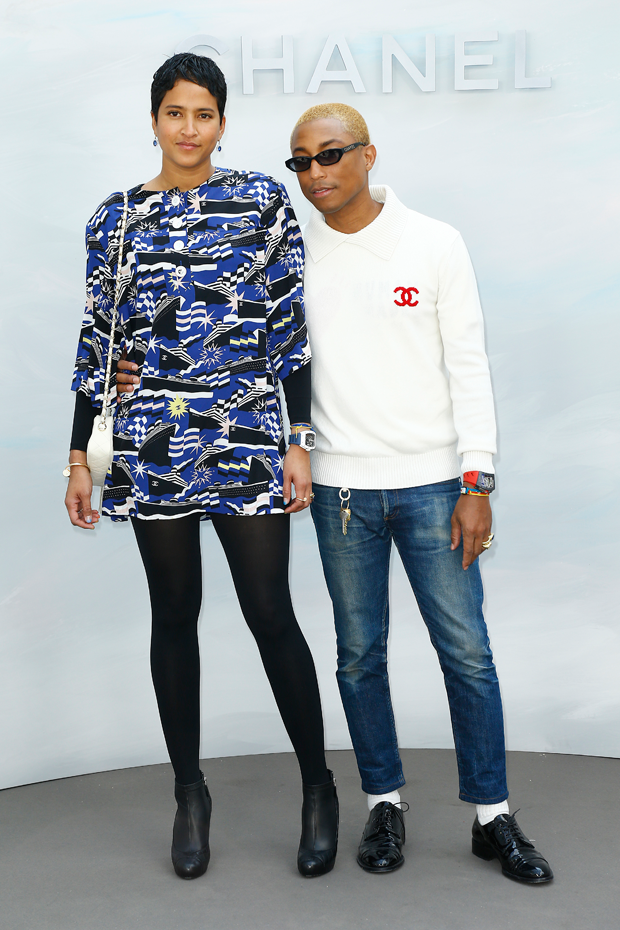 Pharrel Williams e Helen Lasichanh  (Foto: Getty Images)