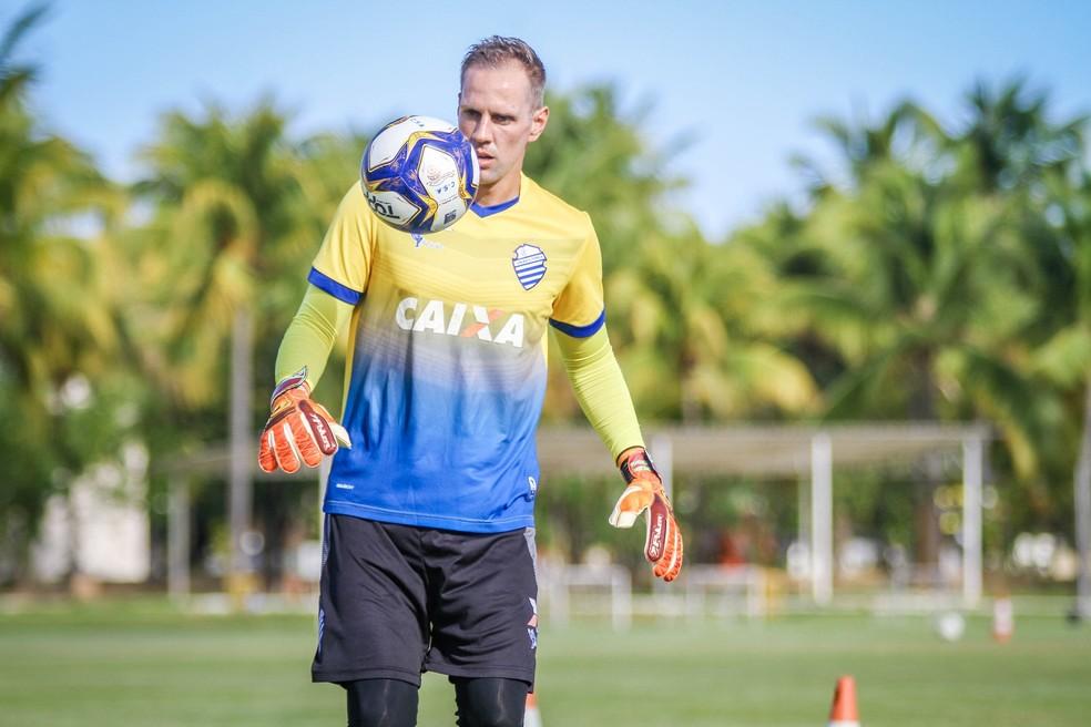 João Carlos, goleiro do CSA — Foto: Morgana Oliveira/CSA