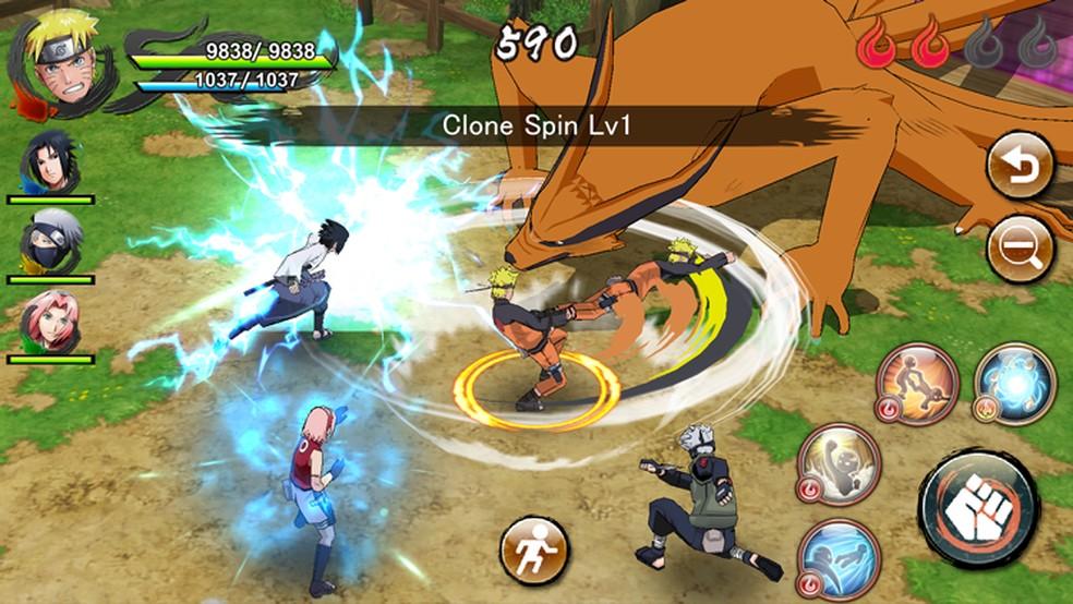 Naruto x Boruto Ninja Voltage é um jogo de estratégia que reúne os personagens do anime — Foto: Reprodução/Facebook Naruto x Boruto Ninja Voltage