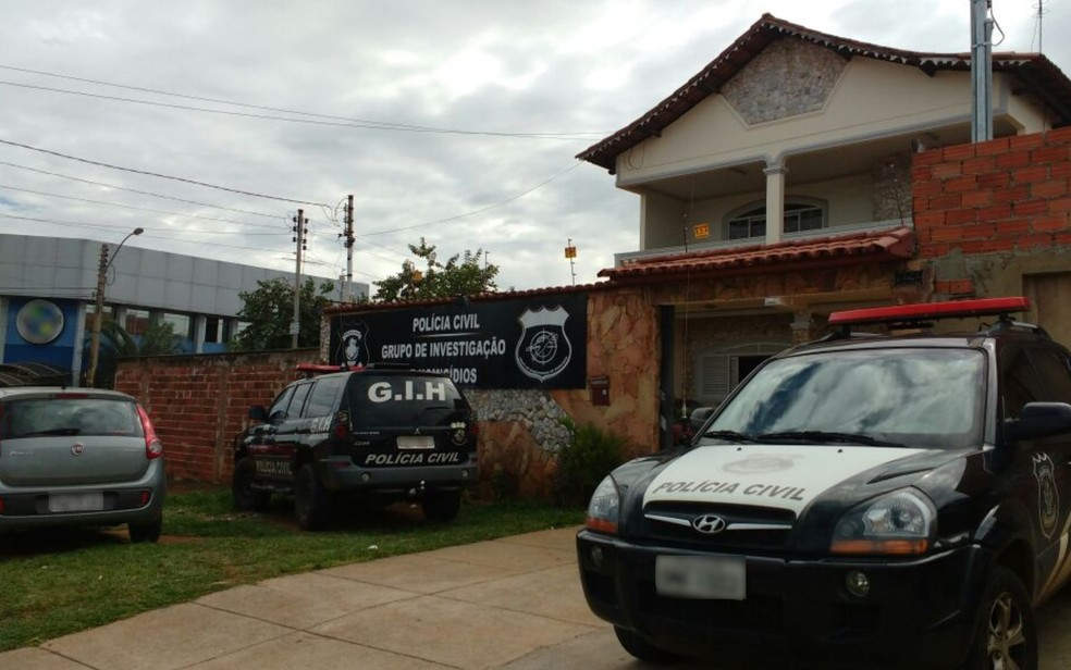 19056c90ef ... Grupo de Investigação de Homicídios em Aparecida de Goiânia — Foto   Divulgação Polícia Civil