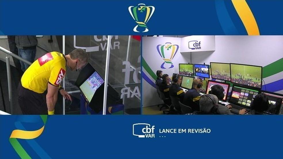 Partida da Copa do Brasil foi cheia de contestaes na Arena da Baixada   Foto Reproduo