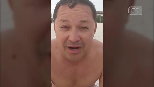 Vereador de Portel, no PA, gera polêmica ao gravar vídeo em praia: 'vou passar dois meses e não vou levar falta'