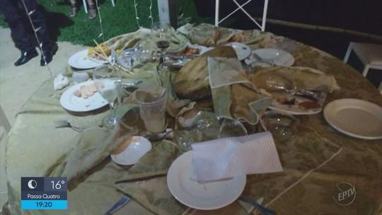 Fotos mostram vítimas durante festa de casamento com explosão e morte de mulher em MG