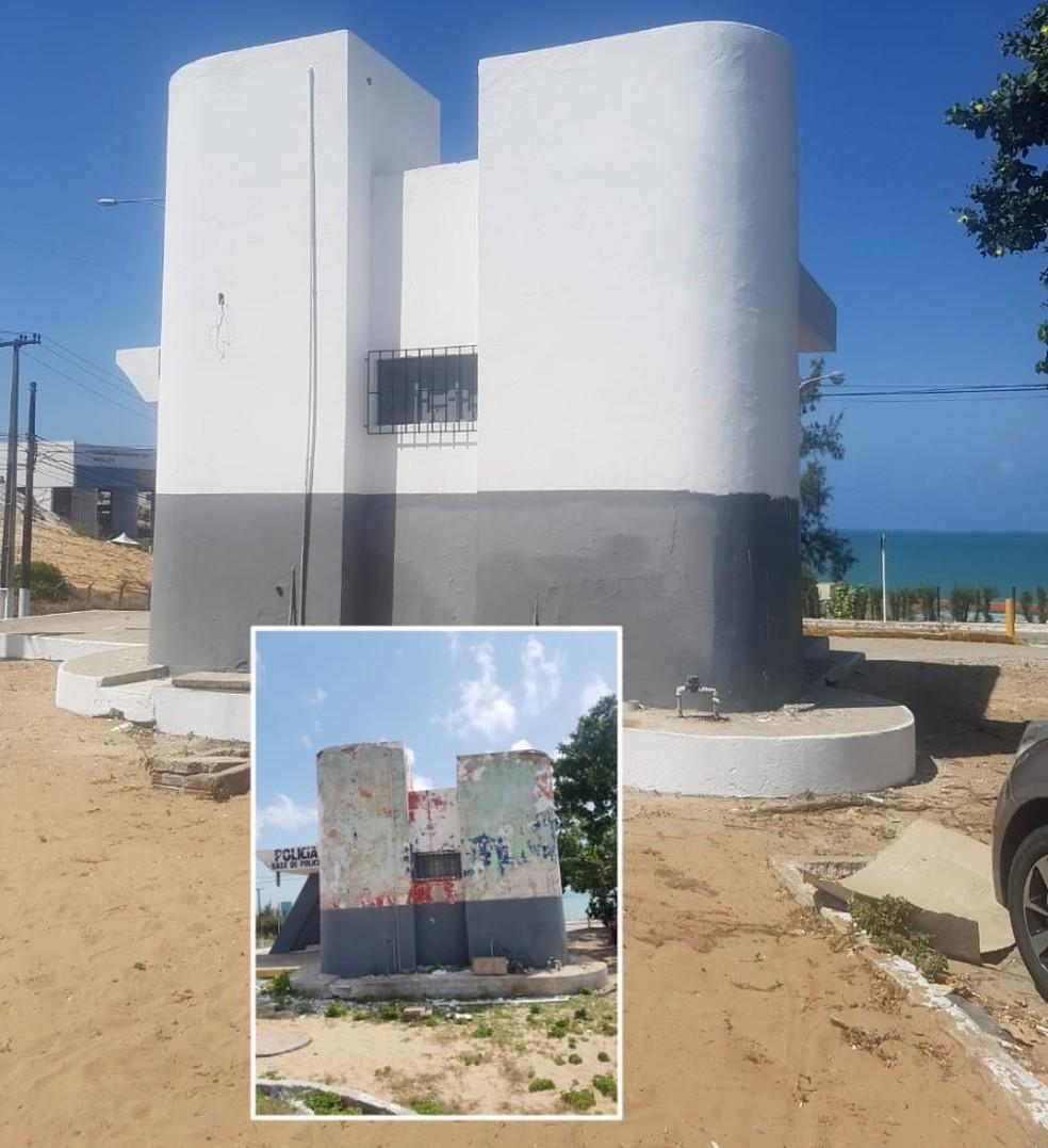 Base da CIPTUR, em Ponta Negra, também foi reformada — Foto: PMRN/Divulgação