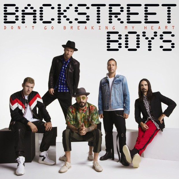 Capa do novo single do Backstreet Boys, Don't Go Breaking My Heart (Foto: Reprodução)