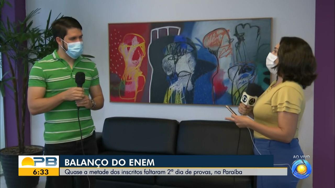 Quase metade dos inscritos faltaram o 2º dia de prova do Enem, na Paraíba