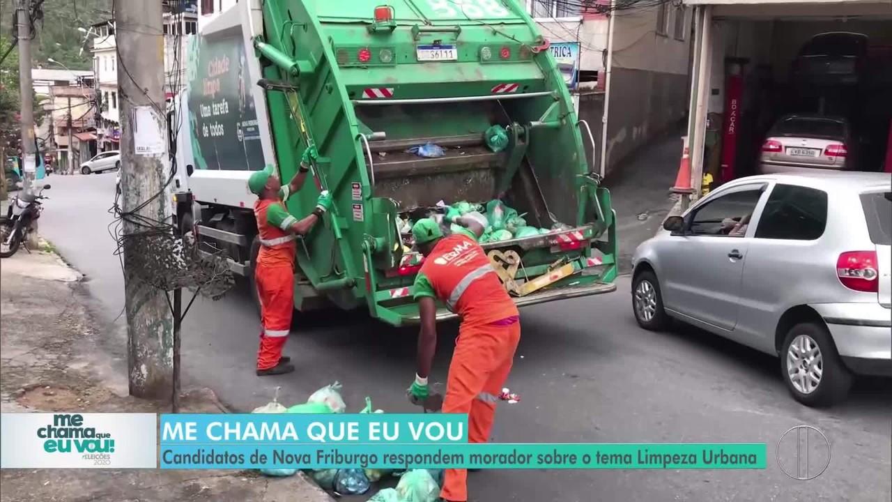 'Me chama que eu vou': Candidatos de Nova Friburgo respondem morador sobre Limpeza Urbana
