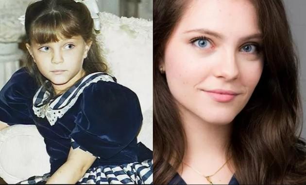 Cecília Dassi, que atualmente é psicóloga, chamou a atenção do público em 'Por amor' (1997). Ela era Sandrinha e vivia um drama familiar por conta do alcoolismo do pai, Orestes (Paulo José) (Foto: TV Globo / Divulgação)