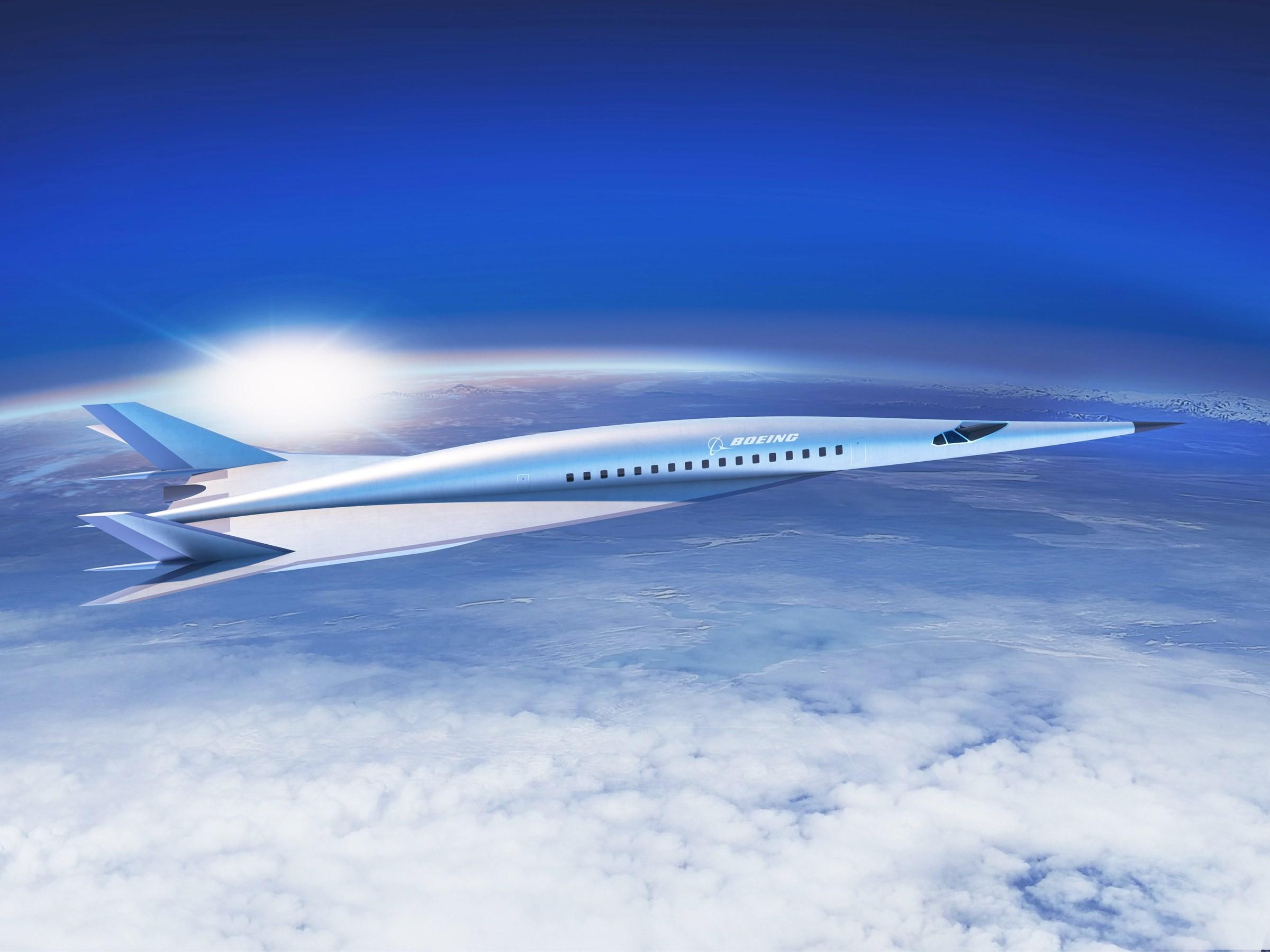Ilustração de modelo supersônico fabricado pela Boeing (Foto: Divulgação)