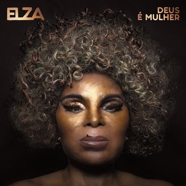 """Capa do novo disco de Elza Soares, intitulado de """"Deus é Mulher"""" (Foto: Divulgação)"""