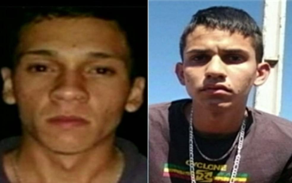 Mikael da Silva Alves e Igor Teodoro Gomes foram mortos durante assalto (Foto: Reprodução/TV Anhanguera)