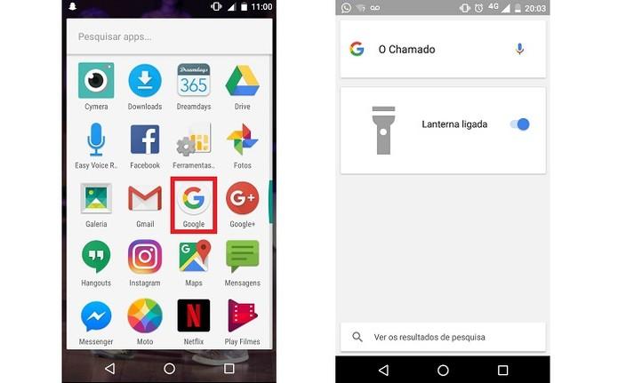 No app de buscas do Google, pesquise por O Chamado (Foto: Reprodução/Isabela Giantomaso)
