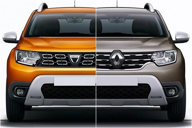 Dacia e Renault Duster: projetos univitelinos (Foto: Montagem/Divulgação)