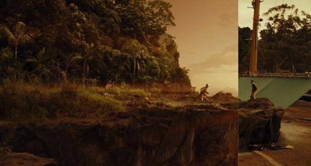 Imagem mostra efeito criado pela Rodeo para o filme Kong: A ilha da Caveira (Foto: Divulgação Rodeo)
