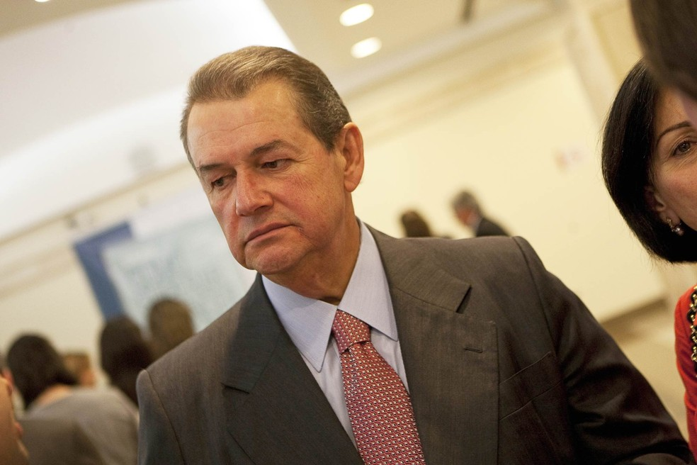 O propriétario da empreiteira OAS, César Mata Pires, em foto de outubro de 2011 durante o lançamento do livro 'Como Superar o Cancer', de Paulo Hoff, em São Paulo (Foto: Mastrangelo Reino/Folhapress)