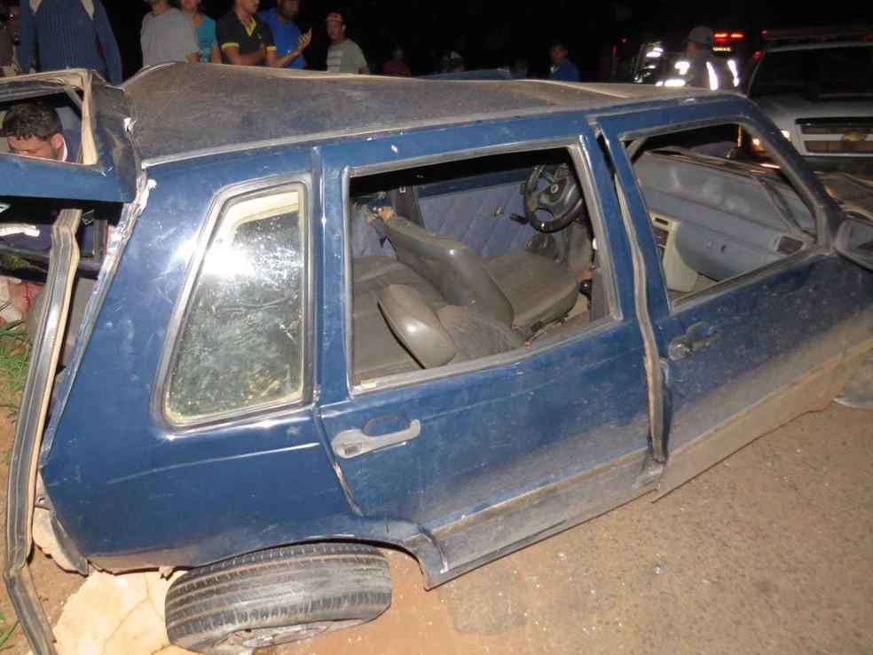 Motorista do carro que fez a ultrapassagem indevida no foi localizado no local.  — Foto: Blog do Braga