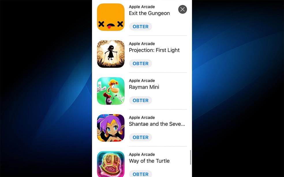 Apple promete atualizar sempre o Apple Arcade — Foto: Reprodução/Felipe Vinha