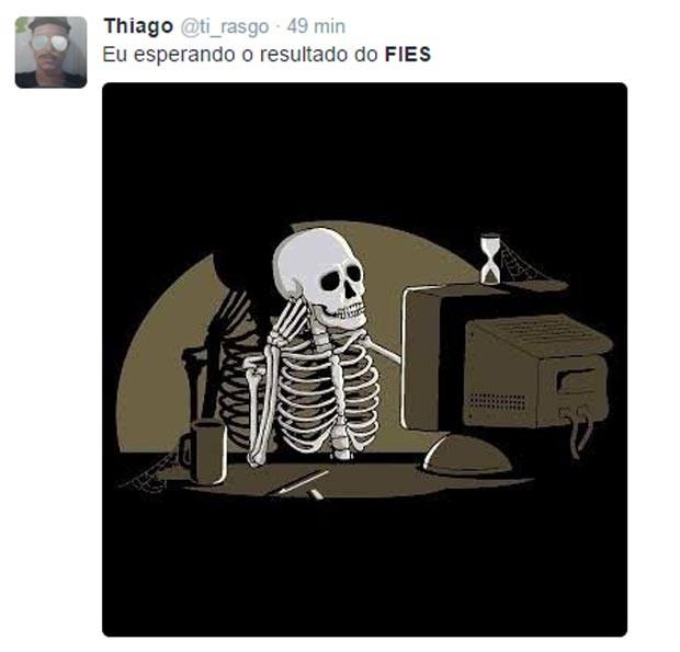 Fies 2016: espera pelo resultado gera memes no Twitter (Foto: Reprodução/Twitter)
