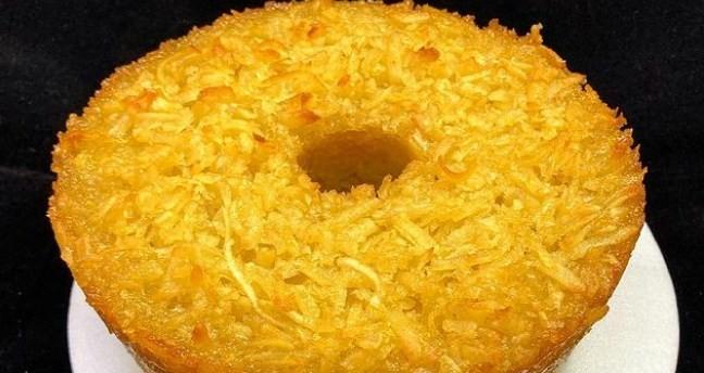 O bolo de aipim com coco
