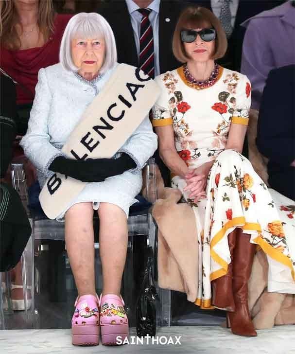 Meme da Rainha Elizabeth ao lado de Anna Wintour (Foto: Instagram/Reprodução)