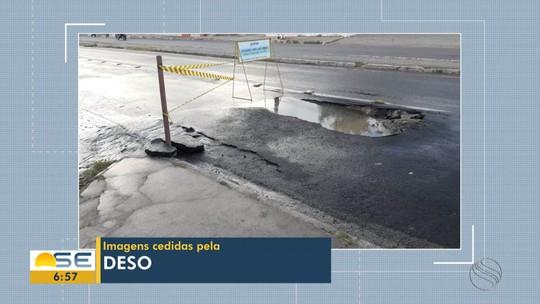 Vazamento afeta fornecimento de água em bairros da Zona Norte de Aracaju nesta segunda-feira