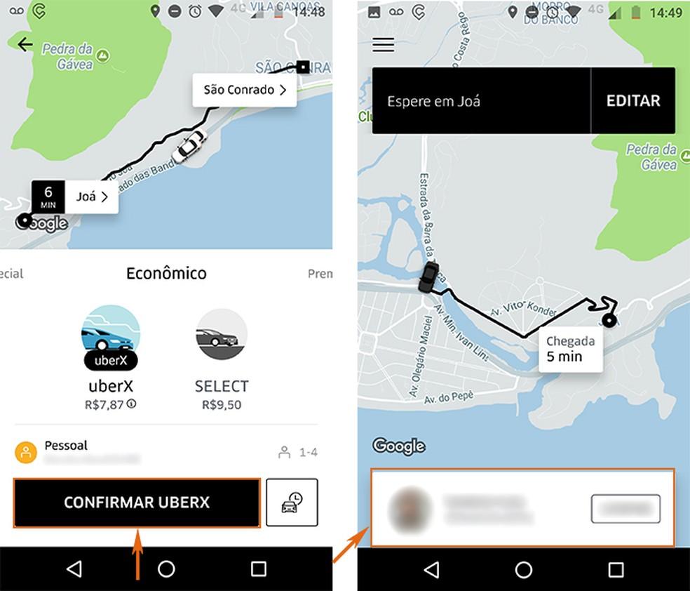 Solicite sua corrida e se desistir veja mais detalhes na Uber (Foto: Reprodução/Barbara Mannara)