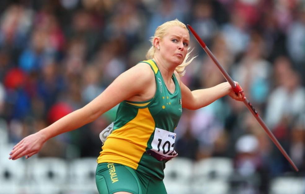Jessica teve passagens no atletismo e competiu na modalidade em Londres 2012 — Foto: Michael Steele/Getty Images