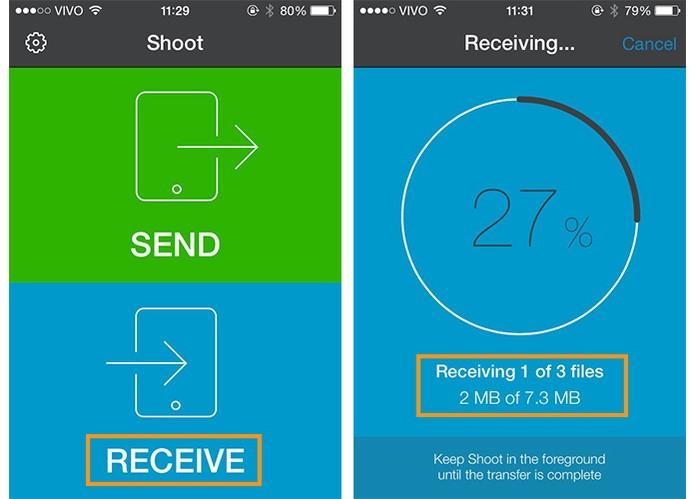 Receba os arquivos pelo segundo celular com o app e QR Code (Foto: Reprodução/Barbara Mannara)