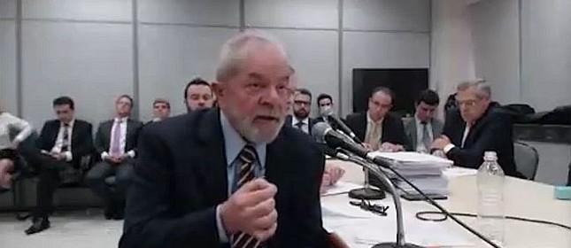 O ex-presidente Lula prestou, pela segunda vez, depoimento ao juiz Sério Moro, nesta quarta-feira, 13/09/2017 (Foto: Reprodução)