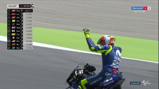 Hexampeão Valentino Rossi faz a festa em casa e crava a pole position em Mugello