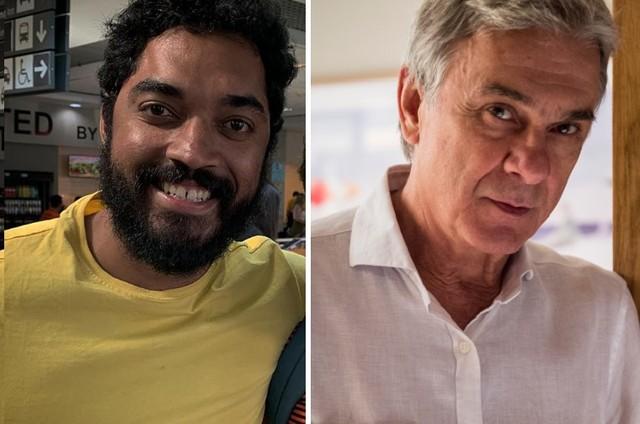 Thomás Aquino e Zécarlos Machado (Foto: Reprodução/Instagram e TV Globo/Divulgação)