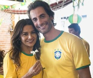 Janaína (Dira Paes) e Raimundo (Flávio Tolezani) | TV Globo/César Alves