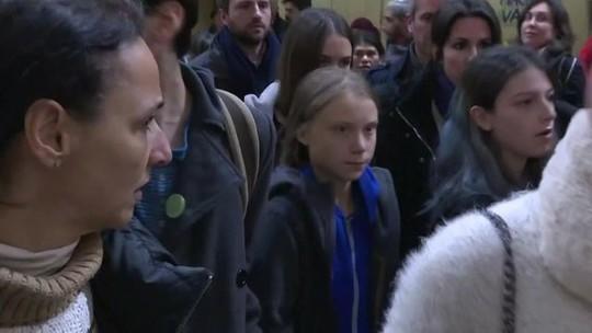 Greta Thunberg participa de evento paralelo à COP 25